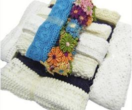 Bundle of 5 x 3m Cotton Lace Hanks